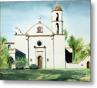 Mission San Luis Rey Colorful II Metal Print by Kip DeVore