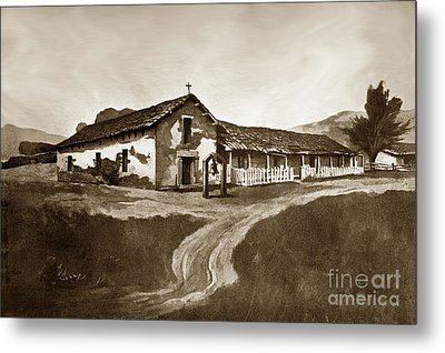 Mission San Rafael California  Circa 1880 Metal Print by California Views Mr Pat Hathaway Archives