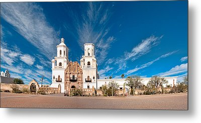 Metal Print featuring the photograph Mission San Xavier Del Bac Panorama by Dan McManus