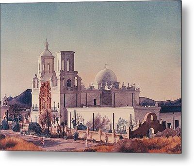 Mission San Xavier Del Bac Tucson Metal Print by Mary Helmreich
