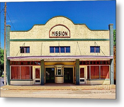 Mission Theater Metal Print by Gary Richards