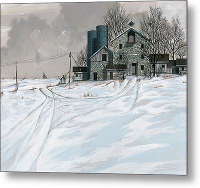 Mission Valley Farmstead Metal Print by John Wyckoff