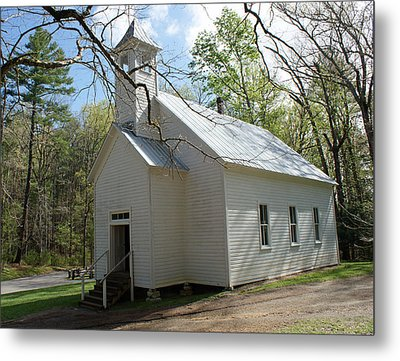 Missionary Baptist Church In Cades Cove Metal Print by Roger Potts