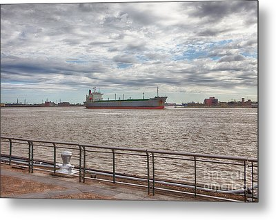 Mississippi River In New Orleans Metal Print by Kay Pickens