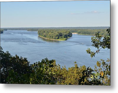 Mississippi River Overlook Metal Print by Luther Fine Art