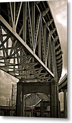 Metal Print featuring the photograph Mississippi Truss In New Orleans by Ray Devlin