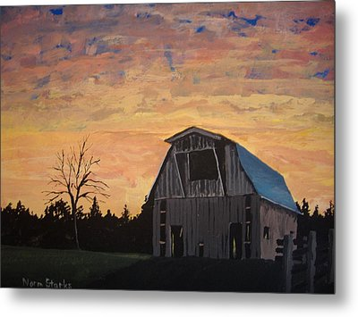 Missouri Barn Metal Print by Norm Starks