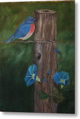 Missouri Blue Bird II Metal Print