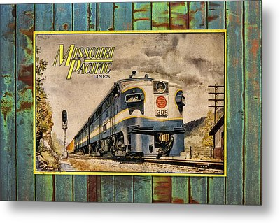 Missouri Pacific Lines Sign Engine 309 Dsc02854 Metal Print by Greg Kluempers