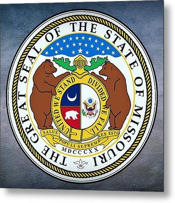 Missouri State Seal Metal Print