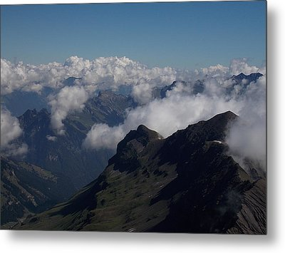 Mist From The Schilthorn Metal Print