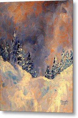 Mist On The Snow Peak Metal Print by Patricia Brintle