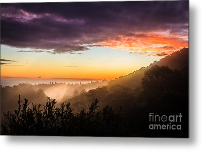 Mist Rising At Dusk Metal Print