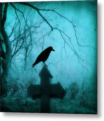 Misted Blue Metal Print by Gothicrow Images