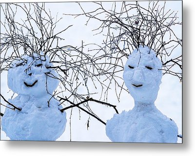 Mister And Missis Snowball - Featured 3 Metal Print by Alexander Senin