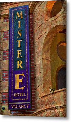 Mister E Hotel - Vacancy Sign Metal Print