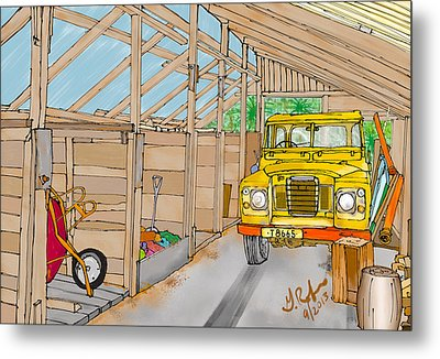 Mister Filby's Toolshed Metal Print by Gerry Robins