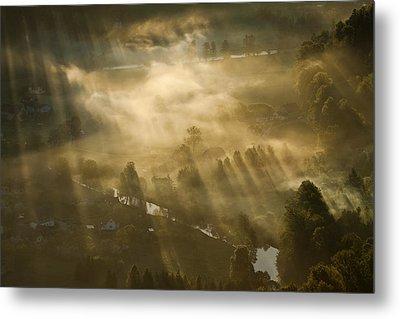 Mist,light And Silence. Metal Print