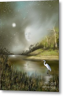 Metal Print featuring the painting Mistress Of The Glade by S G