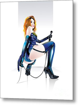 Metal Print featuring the drawing Mistresskira V2 by Brian Gibbs
