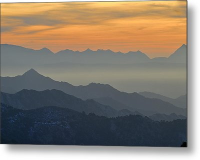 Mists In The Mountains At Sunset Metal Print by Guido Montanes Castillo