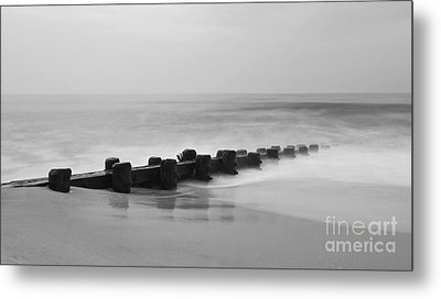 Misty Beach Morning Metal Print by Mark Miller