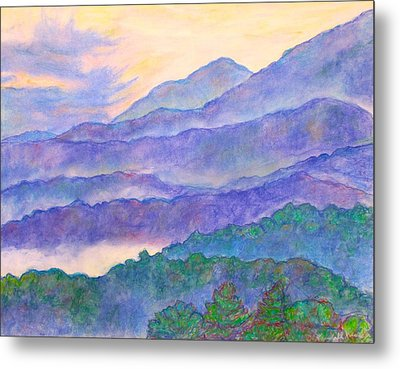 Misty Blue Ridge Metal Print by Kendall Kessler