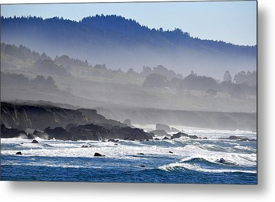 Misty Coast Metal Print by AJ  Schibig