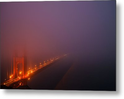 Metal Print featuring the photograph San Francisco - Misty Golden Gate  by Francesco Emanuele Carucci