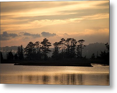 Metal Print featuring the photograph Misty Island Of Assawoman Bay by Bill Swartwout