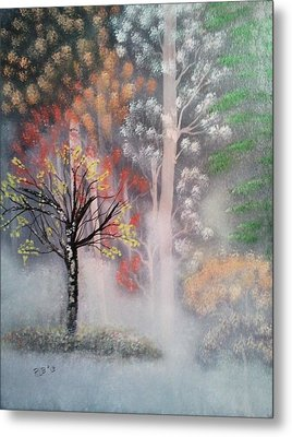 Misty Magic Forest Metal Print by Lee Bowman