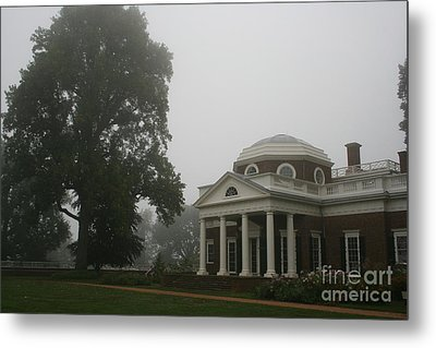 Misty Morning At Monticello Metal Print