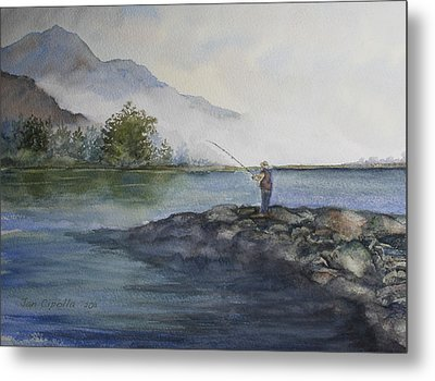 Metal Print featuring the painting Misty Morning by Jan Cipolla