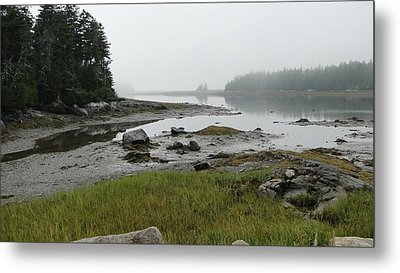 Misty Morning On The Rocky Coast Of Maine Metal Print