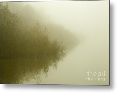 Misty Morning Reflection. Metal Print by Clare Bambers