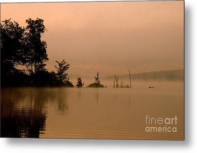 Misty Morning Solitude  Metal Print