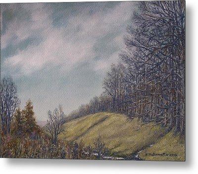 Misty Mountain Valley Metal Print by Kathleen McDermott