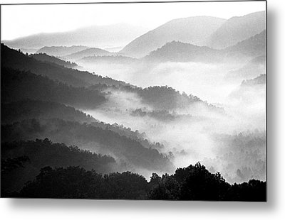 Misty Mountains Metal Print by Wendell Thompson
