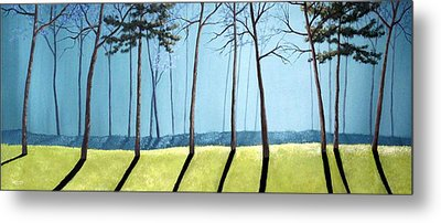 Misty Pines Metal Print by Michael Dillon