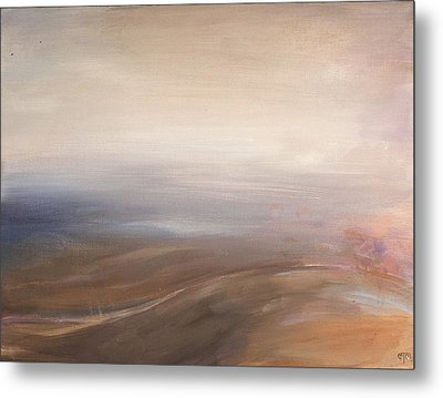 Misty Road Metal Print by Tanya Byrd