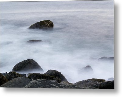 Misty Rocks Metal Print