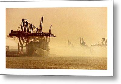 Misty Seattle Waterfront Metal Print by Jack Pumphrey