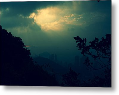 Metal Print featuring the photograph Misty Sunlight by Afrison Ma
