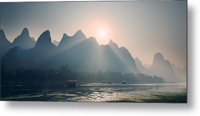 Metal Print featuring the photograph Misty Sunrise 4 by Afrison Ma