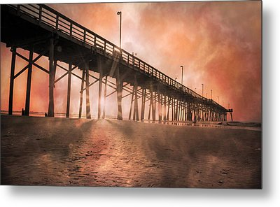 Misty Sunrise Metal Print by Betsy Knapp