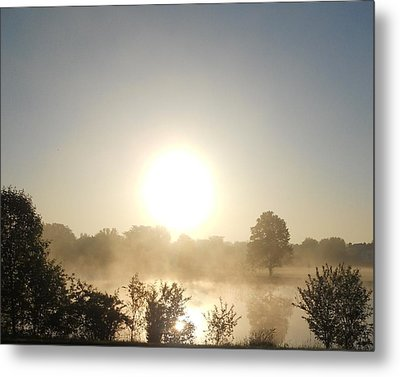 Metal Print featuring the photograph Misty Sunrise by Teresa Schomig