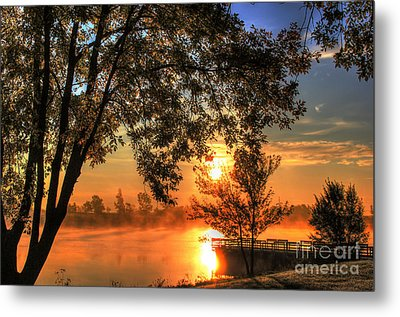 Misty Sunrise Metal Print by Thomas Danilovich
