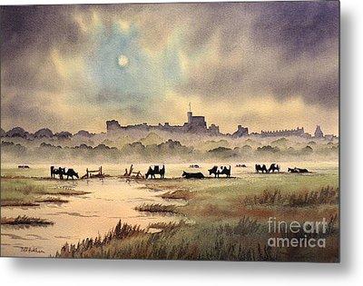 Misty Sunrise - Windsor Meadows Metal Print