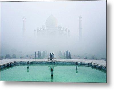 Misty Taj Mahal Metal Print by Karthi Kn Raveendiran