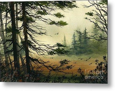 Misty Tideland Forest Metal Print by James Williamson